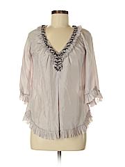 Rebecca Taylor Women 3/4 Sleeve Silk Top Size 0