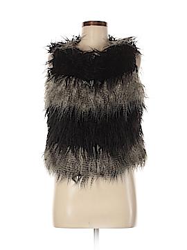 New York Yoki Collection Faux Fur Vest Size M