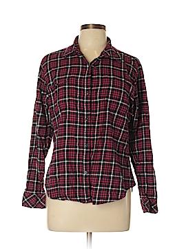 Lee Long Sleeve Button-Down Shirt Size L