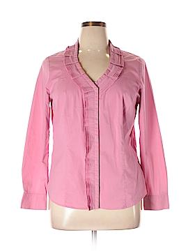 Worthington Long Sleeve Button-Down Shirt Size XL