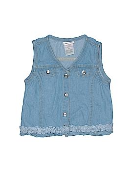 Little Lass Sleeveless Button-Down Shirt Size 6X