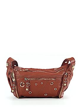 Rough Roses Leather Shoulder Bag One Size
