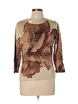 Nancy Bolen City Girl Silk Pullover Sweater Size M
