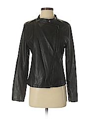 HusHush Women Faux Leather Jacket Size 3
