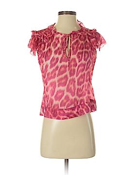 Just Cavalli Short Sleeve Silk Top Size 38 (IT)