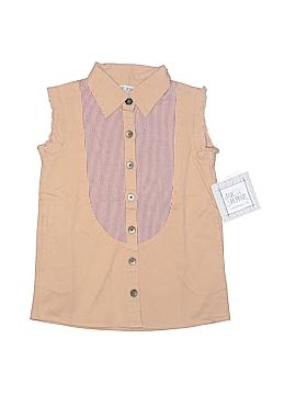 Jak & Peppar Sleeveless Button-Down Shirt Size 12