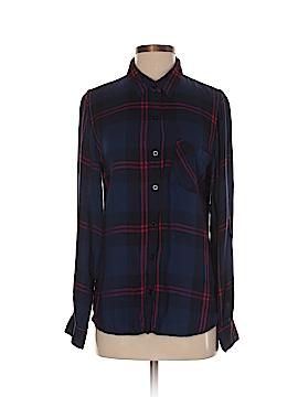 Alya Long Sleeve Button-Down Shirt Size S