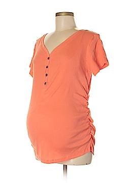 Inspire Maternity Short Sleeve Henley Size XL (Maternity)