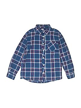 Cherokee Long Sleeve Button-Down Shirt Size M 8-10