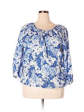 IZOD Long Sleeve Blouse Size 1X (Plus)