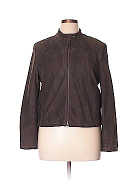 Nine West Leather Jacket Size 14