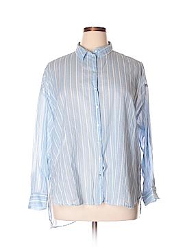 H&M Long Sleeve Button-Down Shirt Size 16