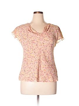 Nine West 3/4 Sleeve Silk Top Size L