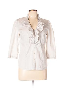 Ann Taylor LOFT Outlet 3/4 Sleeve Button-Down Shirt Size 8