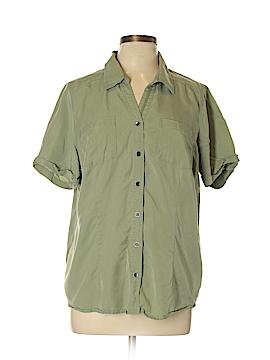 Cj Banks Short Sleeve Button-Down Shirt Size 0X (Plus)