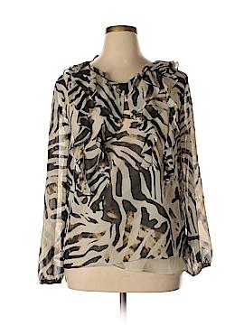 AK Anne Klein Long Sleeve Blouse Size L