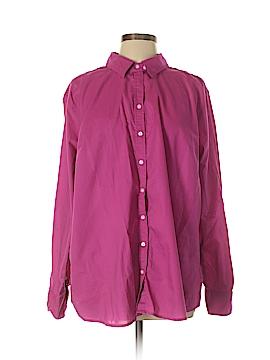 Merona Long Sleeve Button-Down Shirt Size 3