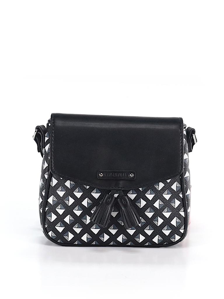 995bf88e1280 Vera Bradley Print Black Leather Crossbody Bag One Size 64 Off