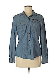 Jones New York Women Long Sleeve Button-Down Shirt Size M