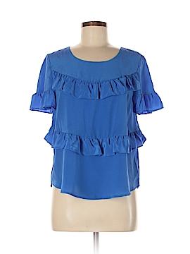 HD in Paris Short Sleeve Silk Top Size M