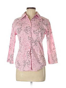 Michael Simon 3/4 Sleeve Button-Down Shirt Size S