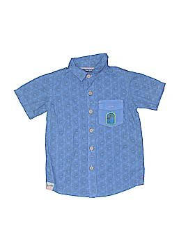 Naartjie Kids Short Sleeve Button-Down Shirt Size 4