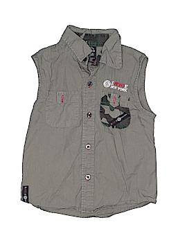 New York Sleeveless Button-Down Shirt Size 4T