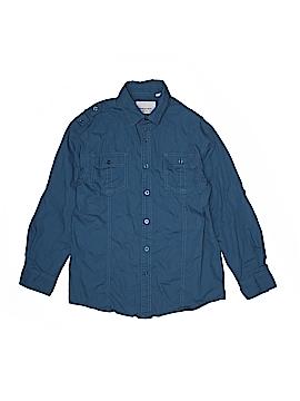 Paper Denim & Cloth Long Sleeve Button-Down Shirt Size 10 - 12