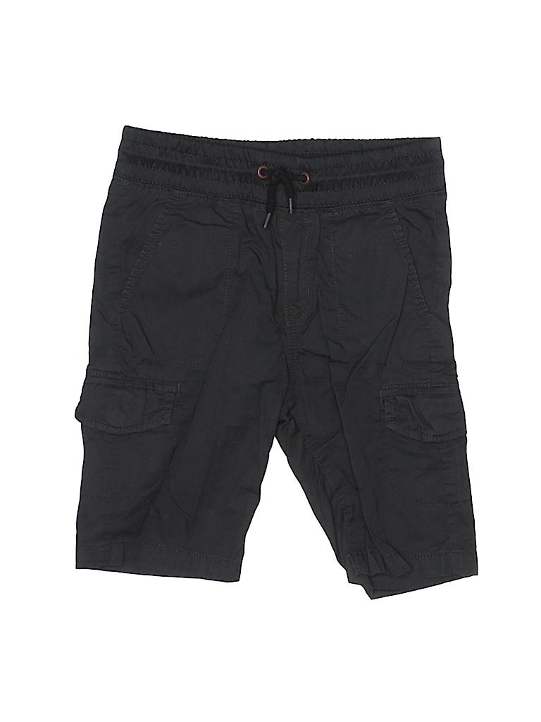 8638505720 H&M 100% Cotton Solid Black Cargo Pants Size 4 - 5 - 69% off   thredUP