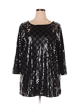 Joan Vass Long Sleeve Top Size 2X (Plus)