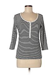 Chico's Design Women 3/4 Sleeve Henley Size Sm (0)
