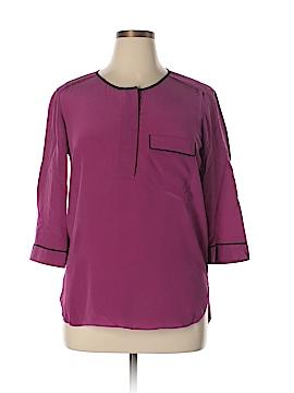 Gerard Darel 3/4 Sleeve Silk Top Size 42 (FR)