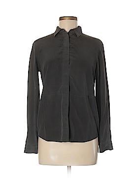 Armani Exchange Long Sleeve Silk Top Size XXS