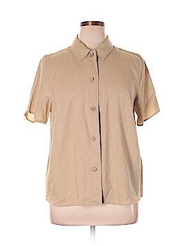 Cj Banks Short Sleeve Button-Down Shirt Size 16 (Plus)