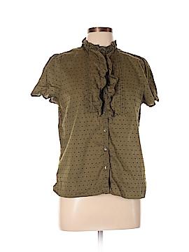 J. Crew Factory Store Short Sleeve Button-Down Shirt Size 12