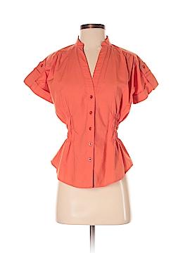 Diane von Furstenberg Short Sleeve Button-Down Shirt Size 4
