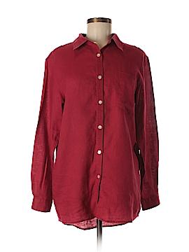 Jillian Jones Long Sleeve Button-Down Shirt Size M