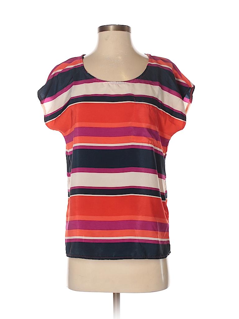 Olive and Oak Women Short Sleeve Blouse Size S