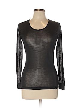 Terramar Sports Long Sleeve Silk Top Size S