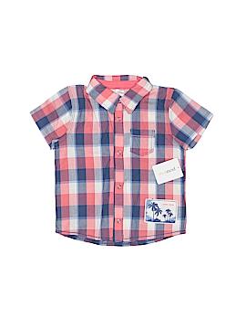 Petit Lem Short Sleeve Button-Down Shirt Size 6 mo