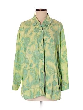 Sigrid Olsen 3/4 Sleeve Button-Down Shirt Size XL
