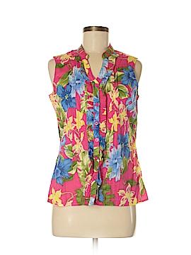 Caribbean Joe Sleeveless Button-Down Shirt Size M