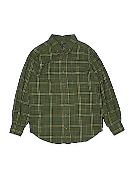 Tea Long Sleeve Button-Down Shirt Size 14
