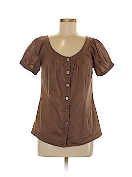 Caslon Short Sleeve Button-Down Shirt Size M