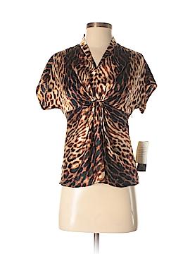 Anne Klein Short Sleeve Silk Top Size 2 (Petite)