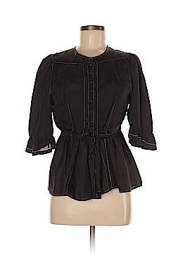 All Saints Short Sleeve Silk Top Size 8