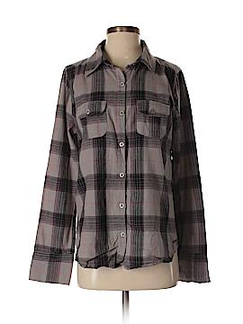 Roxy Long Sleeve Button-Down Shirt Size L