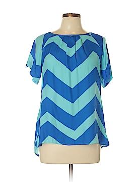 Britt Ryan Short Sleeve Silk Top Size M