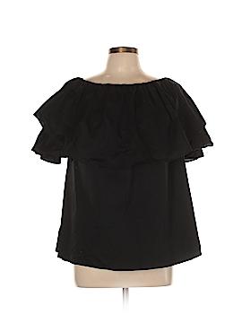 DG^2 by Diane Gilman Short Sleeve Top Size L