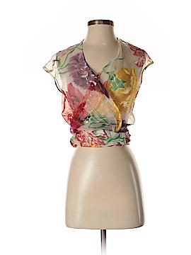 Thierry Mugler Short Sleeve Silk Top Size 38 (EU)